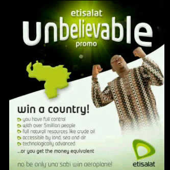 Etisalat Win A Country Promo