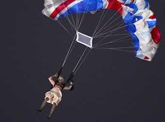 Queen of England and James Bond Parachute into Olympics