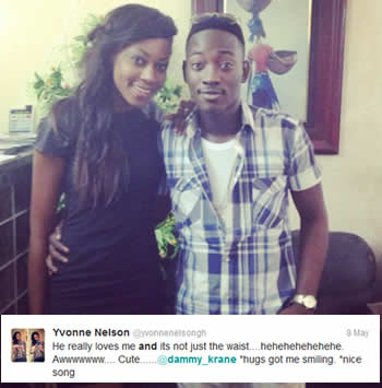 Yvonnne Nelson and Dammy Krane In Love